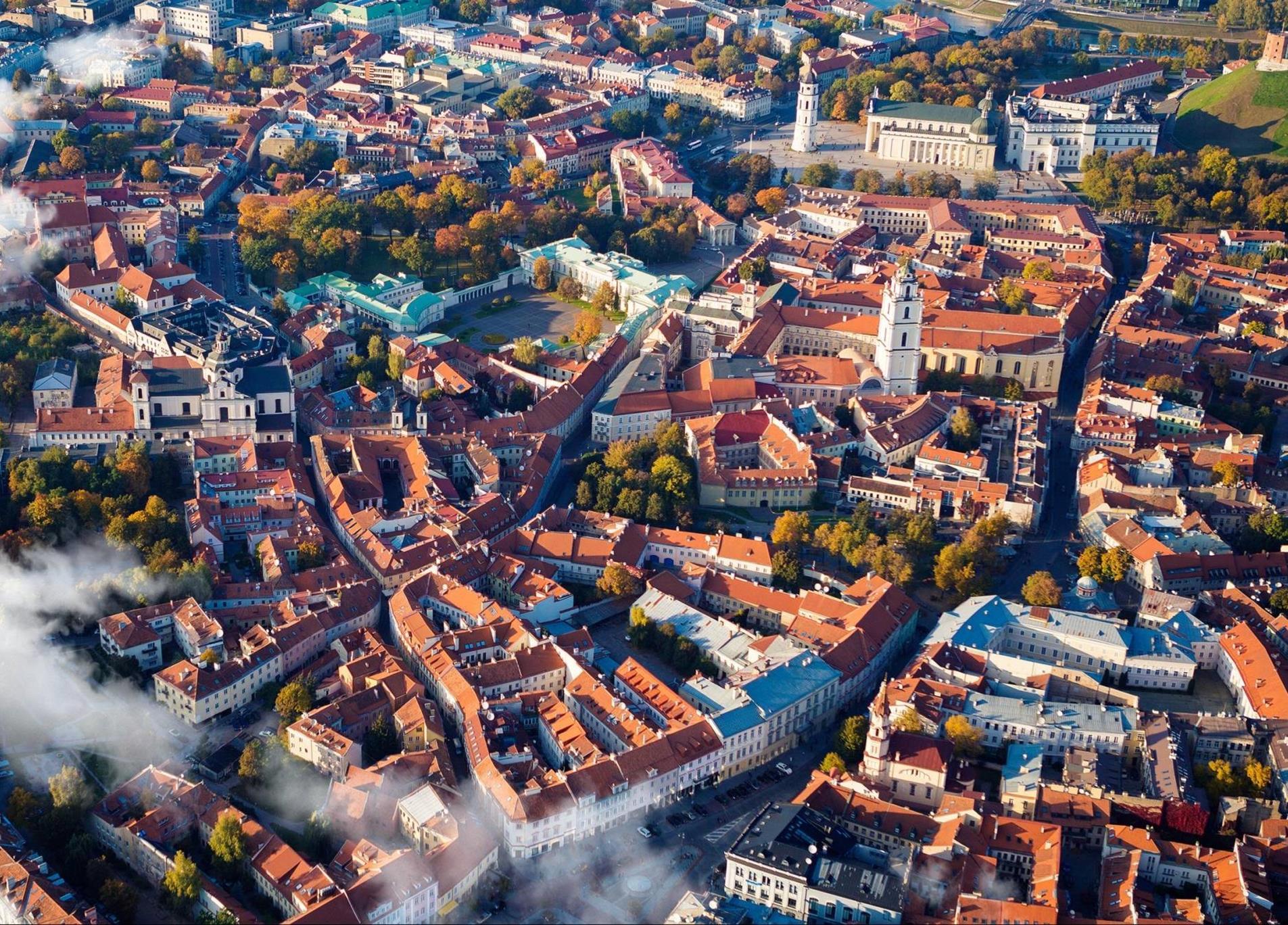The City Center of Vilnius, Lithuania